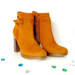 A New Day Tan Faux Suede Bootie